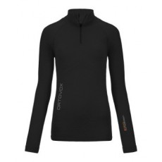 Ortovox Merino Competition Long sleeve Zip Neck Women Noir