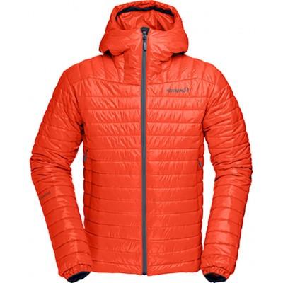 norrona falketind primaloft 100 hood jacket men hot chili