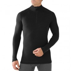 Smartwool - M's Midweight Zip Tee Black, Mountainproshop