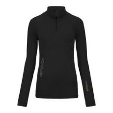 Ortovox Merino Competition Long sleeve Zip Neck Women Noir