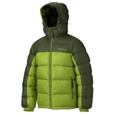 Marmot - Boy's Guides Down Hoody Green lichen