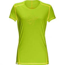 Norrona /29 Tech Tee shirt Women Birch Green Mellow Yellow