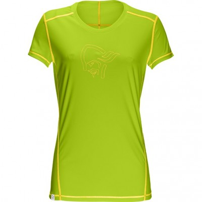 Norrona /29 Tech Tee shirt Women Birch Green Mellow