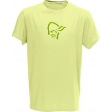Norrona /29 cotton logo t shirt men wasabi wash
