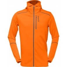 Norrona trollveggen warm/wool1 zip hoodie men pure orange
