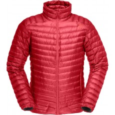 Norrona Lofoten super lightweight down jacket jester red
