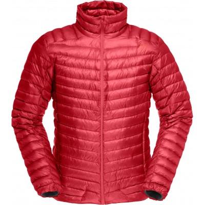 Norrona Lofoten super lightweight down jacket jester red