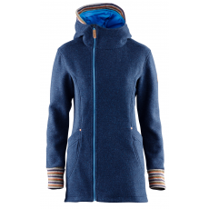 Elevenate Montroc Hood Women Long Jacket Dark Blue