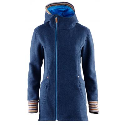 Elevenate Montroc Hood Women Long Jacket Dark Blue