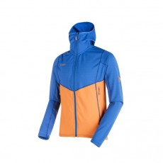 Mammut Eiswand Advanced ML Hooded Jacket Men Ice - Sunrise
