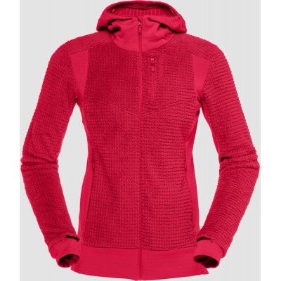 Norrona Lofoten Alpha Raw Zip Hoodie Women Jester Red