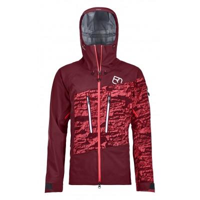 Ortovox Guardian Shell Jacket Women Dark Blood Mountain Pro Shop Val d'isère