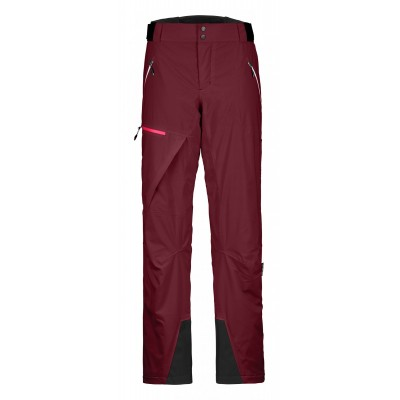 Ortovox Swisswool Andermatt Pants Women Dark Blood Mountain Pro Shop Val d'isère