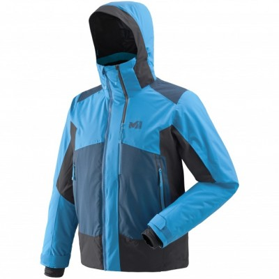 Millet 7/24 Stretch Jacket Men Electric Blue / Noir Mountain Pro Shop Val d'isère