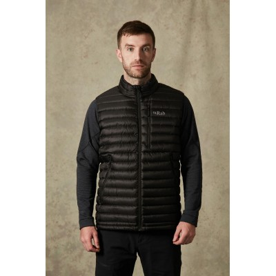 Rab Microlight Vest Men Black / Shark Mountain Pro Shop Val d'isère