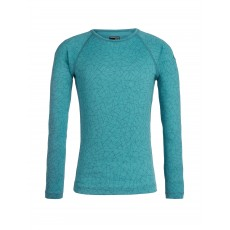 Icebreaker Kids 200 Oasis LS Crew Sky Paths / Artic Teal