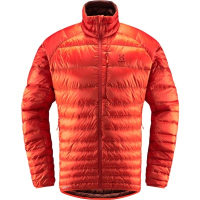 Haglöfs Essens III Down Jacket Men Habanero / Maroon Red