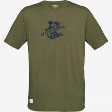 Norrona Svalbard Wool T-Shirt M Olive Drab