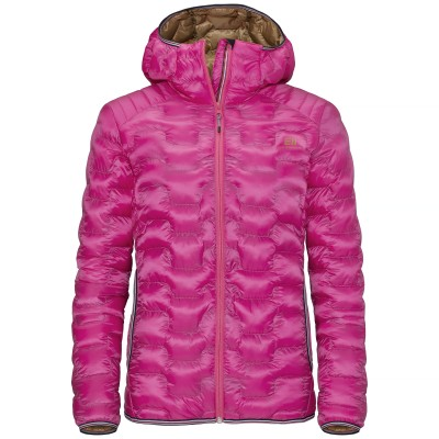 Elevenate Motion Hood Lady Down Jacket Rich Pink