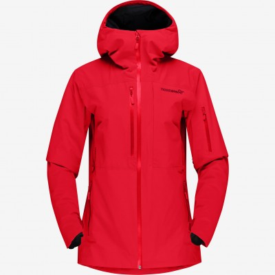 Norrona Lofoten Gore Tex Insulated Jacket Woman True Red